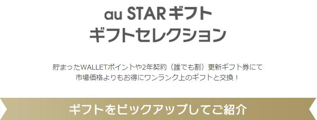 au STARギフトセレクション